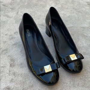 Michael Michael Kors Caroline Black Patent Heels 9